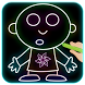 Cartoon Drawing :Draw & color cartoon with glow by Vic.Art