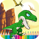 Dinosaur Coloring for Kids by KidPlay Coloring