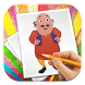 How To Draw Motu Patlu by Snooky Dev