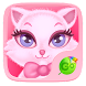 Pink Kitty GO Keyboard Theme by GO Keyboard Dev Team