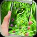 Neon Green Cheetah Theme by Launcher Designer