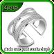 cincin emas putih wanita simple by Dodi_Apps