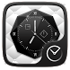Black and White Go Clock Theme by Ltd. talent