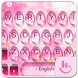 Pink Water Sakura Keyboard Theme by Fashion Cute Emoji