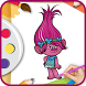 learn Coloring book for trolls by marketer mobile