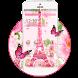 Pink Eiffel Tower Paris Theme by Cool Wallpaper