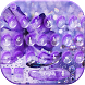 Purple Waterdrop Keyboard Theme by Creative Beauty Studio