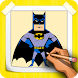 How To Draw Batman Step By Step by CCGAMES : Games For Kids