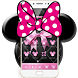 Pink Black Minny Bowknot Theme by Theme Designer Studio
