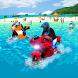 Super water bike Rider and beach bike stunt racing by Classified Art