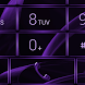 Dialer MetalGate Purple skin by Luklek