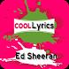 Ed Sheeran Lyrics - Top Song by Tanjak Publisher