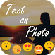 Stylish Text Over Photo by Photo App Gallery