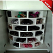 The idea of ​​a minimalist shoe rack design by ganatta