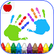 Kids Finger Painting Coloring by TeachersParadise.com