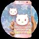 Cute Pink kitty keyboard by Bestheme Keyboard Designer 3D &HD