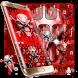Bloody Skull keyboard Theme by cool wallpaper