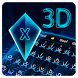 3d neon blue hologram keyboard future tech by Keyboard Creative Park