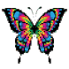 Butterfly Pixel Art - coloring by number by Brian Creekmore