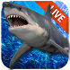 Live Wallpaper with Shark in the Ocean by Weather Widget Theme Dev Team