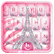 Pink Diamond Eiffel Tower Keyboard Theme by Hot Keyboard Themes For Android