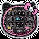 Black Diamond Kitty Theme by Super Cool Keyboard Theme