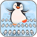 Cute cartoon penguin baby keyboard