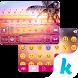 Sunset Beach Kika Keyboard by Best Theme Design Apps