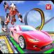Impossible Car Parking Tracks Transform Robot Game
