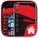 Red Theme For Computer Launcher by Launchers Mart