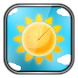 Sunny Weather Clock LWP by T-Me Clocks
