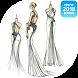Design sketch glamor dresses by astrodroid