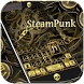 Steampunk Keyboard Theme Gold by Fly Liability Themes