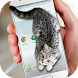Cat Walks in Phone Cute Joke by Just4Fun
