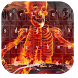 Flaming Skull Music Keyboard by live wallpaper collection