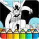How To Color LEGO Batman -free coloring for kids- by ProApps91