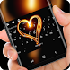 Fire Heart Keyboard Romance Night by Sexy Theme Design for Smart Phone