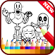 Drawing app for Undertale Sans by Apps Coloring Drawings Games Freee