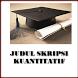 Contoh Skripsi Kuantitatif by Rosse Studio
