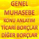 GENEL MUHASEBE TİCARİ BORÇLAR by Kenan IŞIK