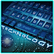 Blue Technology Keyboard Theme