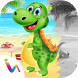 Dinosaurs Scratch & Paint Game by himanshu shah