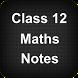 Class 12 Maths Notes