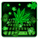 Smoky Weed Leaf Keyboard Theme