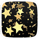 Gold and Black Stars by Heartful Theme