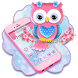 Cute Pink Owl Theme by stylish android themes