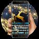 Golden Deer Keyboard by Bestheme Keyboard Designer 3D &HD