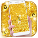 Gold Glitter Keyboard Theme by Keyboard Theme Factory