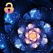 Blue Guerlain Flowers Diamond Elegant Locker Theme