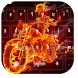 Flaming Skull Typewriter Theme by live wallpaper collection